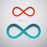 Vector Paper Infinity Symbols Royalty Free Stock Image