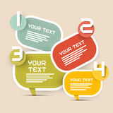 Vector Paper Infographics Layout Stock Image