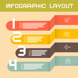 Vector Paper Infographics Layout Royalty Free Stock Photography