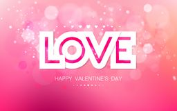 Vector paper inscription love on a pink background Stock Images