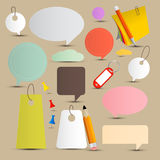 Vector Paper Labels - Tags Set Stock Images