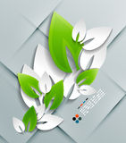 Vector paper leaves modern design Stock Images