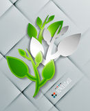 Vector paper leaves modern design Royalty Free Stock Photography