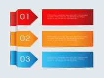 Vector paper lines and numbers design template Royalty Free Stock Images