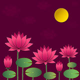 Vector Paper Lotus. Stock Photography