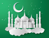 Vector of paper Mosque. Stock Images