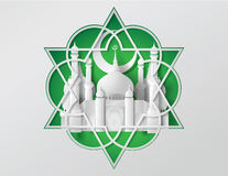 Vector of paper Mosque. Stock Photo