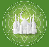 Vector of paper Mosque. Royalty Free Stock Photo