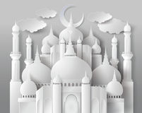 Vector of paper Mosque. Stock Photography