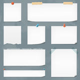 Vector Paper Notes Royalty Free Stock Images