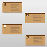 Vector paper numbered cards Stock Photography
