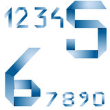 Vector paper numbers Stock Image