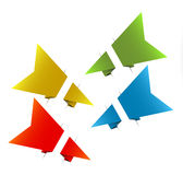 Vector Paper origami arrows Stock Photos