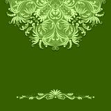 Vector paper pattern on green background Stock Image