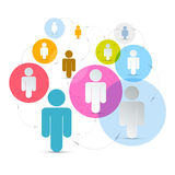 Vector Paper People in Circles Stock Photography