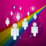 Vector Paper People in Circles Stock Image