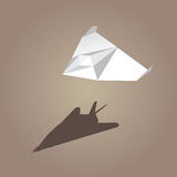 Vector paper plane brown background Stock Photography