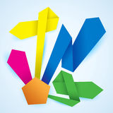 Vector paper product choice diagram origami Stock Photo