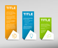 Vector Paper Progress background / product choice or versions Royalty Free Stock Photos