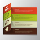 Vector Paper Progress. Infographic Template Stock Photos