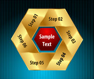 Vector paper progress steps for tutorial, six steps design concept - vector eps10. I have created vector paper progress steps for tutorial, six steps design stock illustration