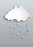 Vector Paper Rain Stock Photography