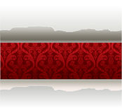 Vector paper with a red background Stock Photo