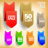 Vector paper sale tags Stock Photos
