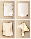 Vector Paper Sheets set Royalty Free Stock Photo