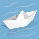 Vector paper ship Stock Images