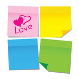 Vector paper sticker Stock Photos