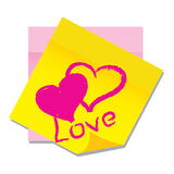 Vector paper sticker with heart. Vector object, illustration,  paper sticker with heart Stock Photo