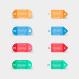 Vector paper stickers and labels with realistic Stock Photography