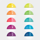 Vector paper stickers and labels with realistic Royalty Free Stock Photo