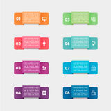 Vector paper stickers and labels with realistic Royalty Free Stock Photography