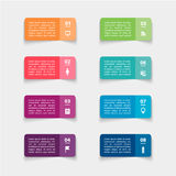 Vector paper stickers and labels with realistic Stock Photos