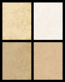 Vector Paper Texture collection. A set of 4 high detail Paper and cardboard texture Royalty Free Stock Photo
