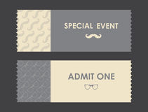 Vector paper ticket Royalty Free Stock Photography