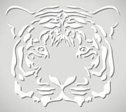 Vector paper tiger head Royalty Free Stock Photos