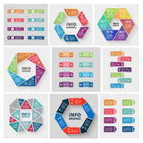 Vector paper triangle stickers and labels with Royalty Free Stock Photos
