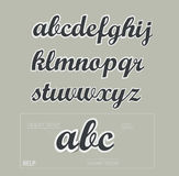 Vector paper uppercase alphabet with shadows Royalty Free Stock Photos