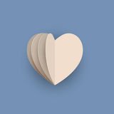 Vector papercraft heart royalty free stock image
