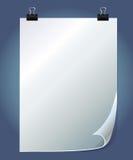 Vector Papierschablone mit Leerzeichen für Text lizenzfreie abbildung