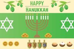 Vector para el día de fiesta judío Jánuca Imágenes de archivo libres de regalías