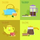 Vector para la fiesta del té Imágenes de archivo libres de regalías
