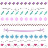 Vector para las muchachas con las flores, caramelos Imagenes de archivo