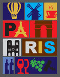 Vector Paris Royalty Free Stock Images