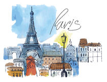 Vector paris Royalty Free Stock Photography