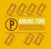 Vector parking lot illustration Stock Photos