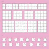 Vector parts of paper jigsaw puzzle set Royalty Free Stock Photo